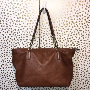 Coach Pebble Leather Madison East West Tote